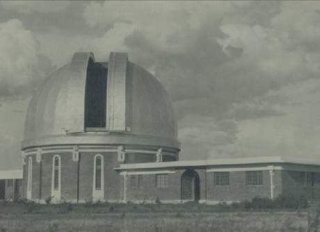 Black white pic of observatory
